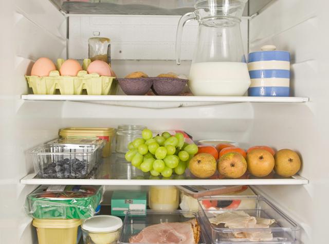 Interiör i kylskåp